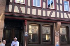 """Das Geburtshaus von Grimmelshausen in Gelnhausen, des Autors des """"Simplicissimus""""     Foto: Link"""